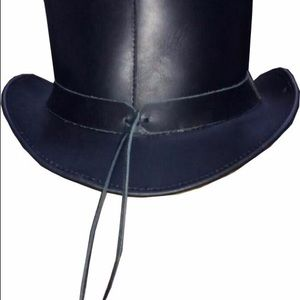 Other - Men's Genuine Leather Steampunk Deadman Top Hat